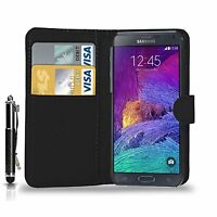 Book Leather Wallet Flip Case Cover for SAMSUNG GALAXY NOTE 4