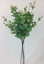 5 X  Artificial Silk Green Eucalyptus leaves Home Decor/Flower Arrangements.