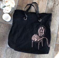 Victoria's Secret Black & Pink Tote Bag Shoulder Bag