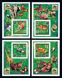 [76547] Niger 1996 World Jamboree Scouting Wild Life 4 Imperf. Sheets MNH
