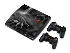 Ps3 playstation 3 slim skin Design volets Autocollant Film de protection set-dark skull