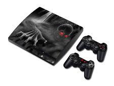 PS3 PlayStation 3 Slim Skin Design Foils Aufkleber Schutzfolie Set - Dark Skull