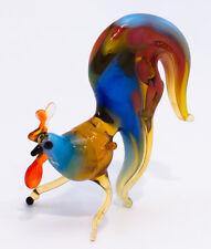 "Glass figurine of small colorful Rooster ""murano"" handmade in Ukraine"