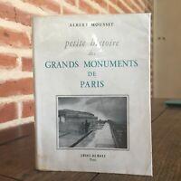 Albert Mousset Petite Histoire Delle Grandi Monumenti Di Parigi Amiot Dumont