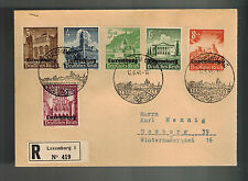 1941 Luxembourg Censored Occupation Cover to Germany Stamp Day Cancel