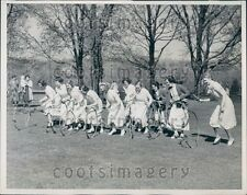 1937 Happy Senior Girl Bryn Mawr College Students Hoop Roll PA Press Photo