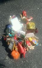 "RETRO  key chain lot! Great for a collector! ""Robin"", M&M, Fuzzy dice, & more!"