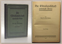Schöne Die Elbtallandschaft unterhalb Pirna 1923 Landeskunde Ortskunde Sachsen