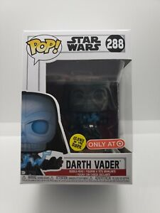 FUNKO POP STAR WARS DARTH VADER #288 TARGET EXCLUSIVE GITD