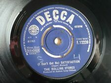 "The Rolling Stones I Can't Get No Satisfaction 7"" Vinyl UK 1965 1st Press Single"