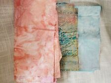 New listing Assorted Quilting Fabric Material Lot 3 Pieces Cotton with gold Prints