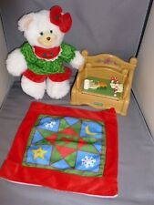Fisher Price Briarberry Merryberry Merry Christmas bear night before set