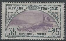 "FRANCE STAMP TIMBRE 152 "" ORPHELINS 35c+25c TRANCHEE DRAPEAU "" NEUF xx TTB  N995"