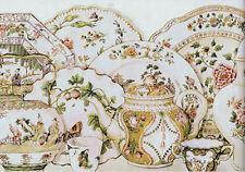 Waverly Porcelain Menagerie Wallpaper Border in Document Color  5510071