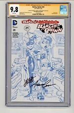 DC's Harley Quinn #23 Sketch Variant 2x Signed by Jimmy & Amanda CGC 9.8