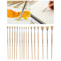 3/5x Bristle Stiff Fan Brush Fan Paint Brush Bristle Hair Gouache Painting Pen