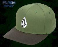 New Volcom Full Stone Cedar Green Mens XFit Cap Hat