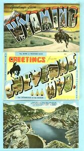 """3rd 3 of 18 Vintage, """"Greetings from, Home of Frontier Days, Greetings from....."""
