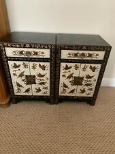 STUNNING CHINESE BEDSIDE CABINETS (PAIR)