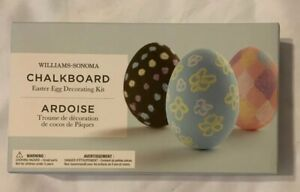 Williams-Sonoma Kids Chalkboard Easter Egg Decorating Kit includes paint NEW