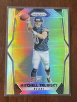 MITCH TRUBISKY 2017 PANINI PRIZM RC ROOKIE SILVER REFRACTOR CHICAGO BEARS 🔥 I