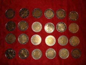 Lot pièces 2 euros commémoratives