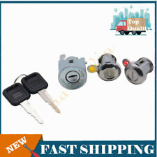 New Ignition Cylinder Door Lock Key Set For Isuzu NPR NQR NKR ELF 1994-07