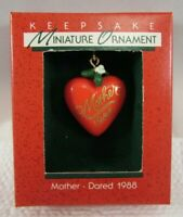 Hallmark Miniature Christmas Ornament 1988 NIB - Mother - Dated 1988