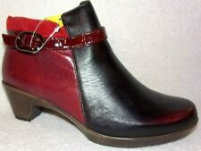 New Naot Unique Red Combo Womens Leather Ankle Boots 6.5 - 7 M, EU 37