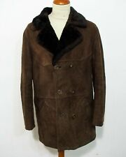 Lamm Fell Mantel Vintage Größe 52 Lammfell Jacke sheep skin C338