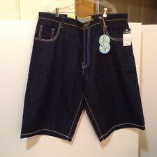 Evolution Men's Sz 42 Blue/Yellow Rainbow Embroidered Jean Shorts NWT! (#CB16-6)