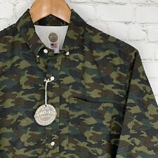 Men's NWT Thoro-Stitch (M) Camouflage Corrugated Button Front Long Sleeve Shirt