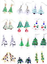 Festive Christmas tree earrings, Xmas gear, multiple choices