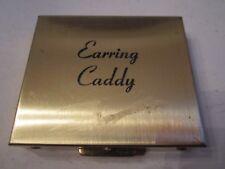 VINTAGE EARRING CADDY METAL CASE - TUB BBK