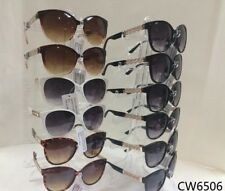 CW6506 Women Fashion Sunglasses With Gold Chain Design leg Wholesale 12 pair