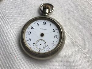 american waltham Silverode pocket watch