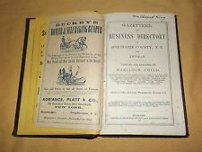 VINTAGE 1872-3 SCHOHARIE COUNTY NY GAZETTEER & BUSINESS DIRECTORY BOOK