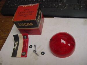 NOS Lucas Rear Tailight Lens + Screws Triumph Spitfire (1967-70) GT6 (1969-70)