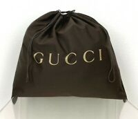 """Gucci New Auth Brown Cotton Large XL Storage Travel Dust Bag 22""""x22.5"""" FreeShip"""