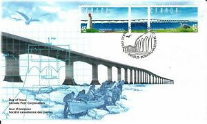 1997 FDC Opening of Confederation Bridge, Northumberland Strait #1646a #1645-46