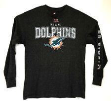 Majestic Miami Dolphins Long Sleeve T Shirt Grey Medium M A9