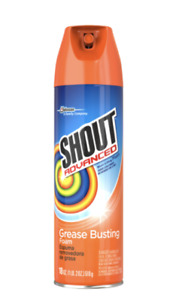 Shout Advanced Grease Busting Foam, Laundry Stain Remover, 18 Ounce