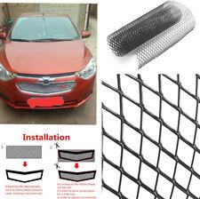 """40x13"""" Car Bumper Hood Vent Radiator Grill Black Aluminium 12 * 6mm Rhombus Mesh"""