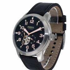FOSSIL Uhr Pilot 54 ME3118 Herren Automatik Armbanduhr Lederband offene Unruh
