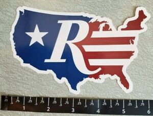 """Remington Flag Map Firearms America US Flag Decal Sticker Approx 5.5"""" SHOT SHOW"""