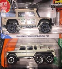 Lot of 2 Matchbox Mercedes-Benz G63 AMG & Hot Wheel Land Rover Defender Dble Cab