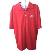 Callaway Mens Polo Golf Shirt Size XL Red Cadillac Logo Short Sleeve