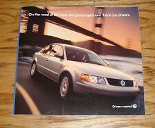 Original 1998 Volkswagen VW Full Line Sales Brochure 98 Jetta Golf Passat Cabrio