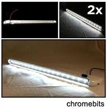 2 x Marine dreh weiß LED 12 Volt innen Leiste Licht Lichtleiste Boot Wohnmobil