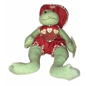 Hallmark Valentines Bunnies By The Bay Frog Lily Pond 2002 Plush Stuffed Doll